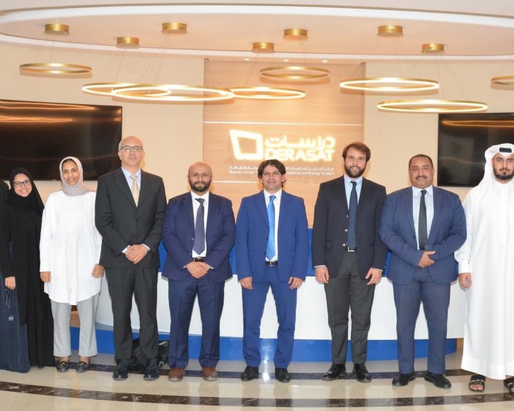 Derasat received a delegation from the Eni Enrico Mattei Foundation