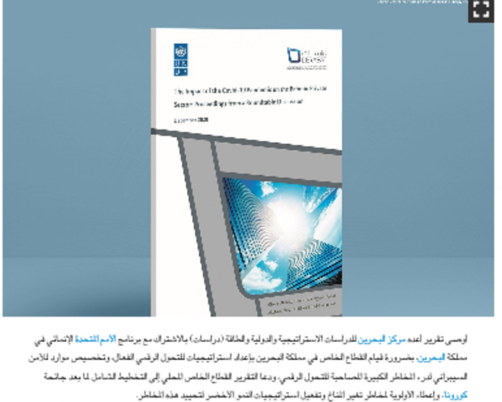 Derasat-UNDP report calls on private sector to plan, implement effective digital transformation strategies