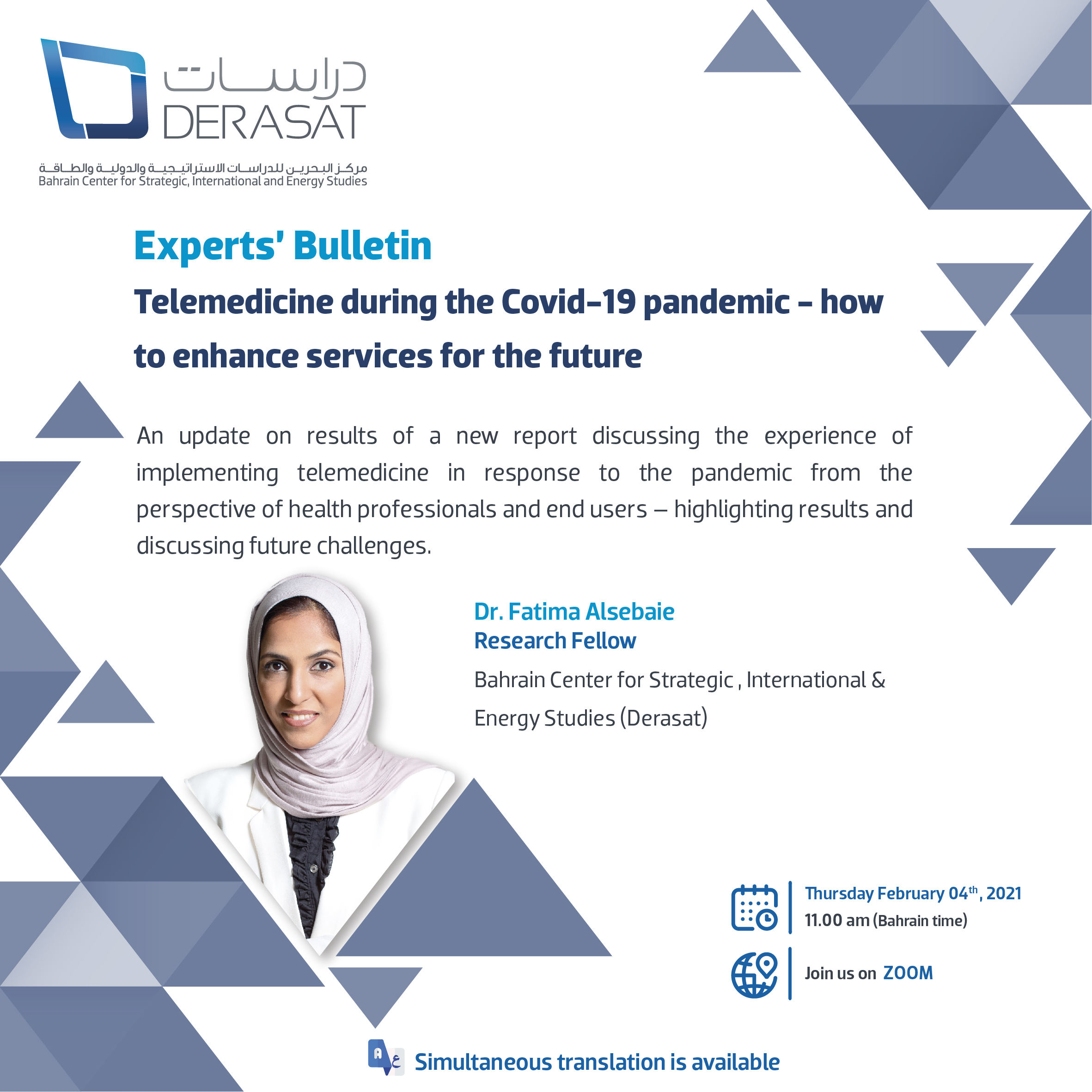 Experts' Bulletin #10: Telemedicine during the Covid-19 pandemic – how to enhance services for the future.